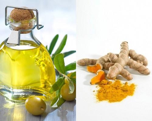 cách trị nám bằng bột nghệ và dầu oliu